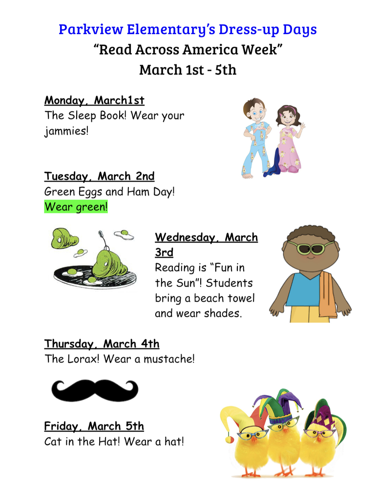 """Read Across America"" Dress-up Days"