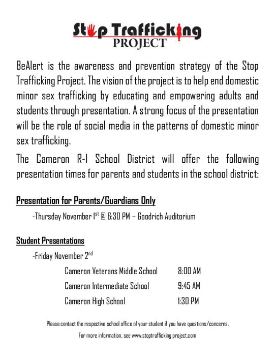 BeAlert Presentation for Parent Nov. 1 - 6:30pm