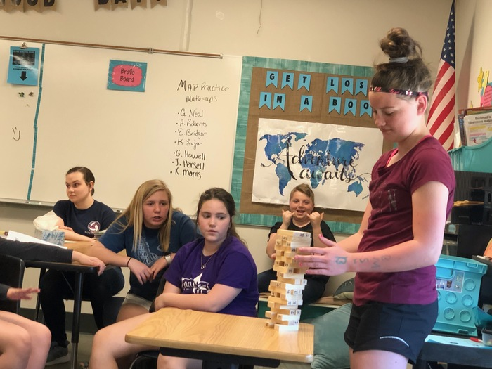 7th ELA Jenga