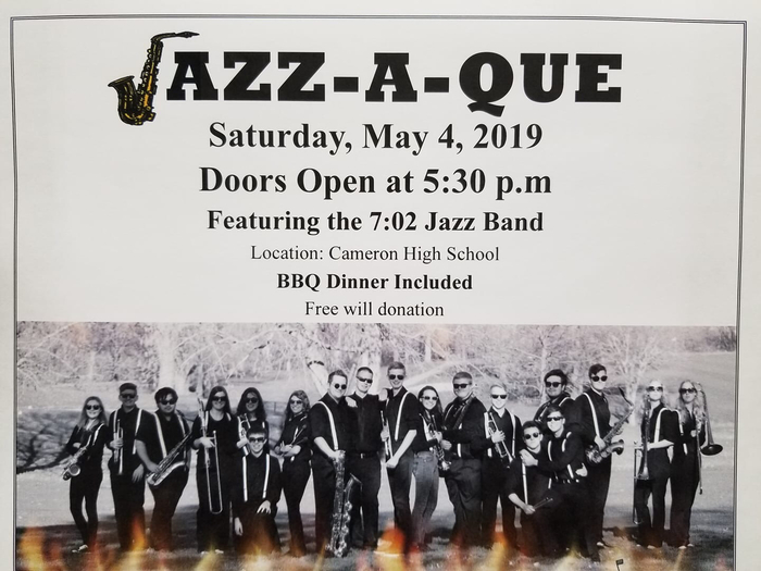 Jazz-A-Que, Saturday, May 4th 5:30 pm
