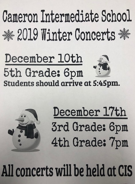 CIS winter concerts
