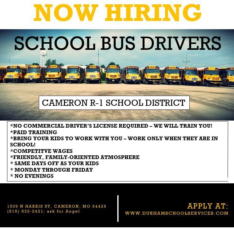 Now Hiring Bus Drviers